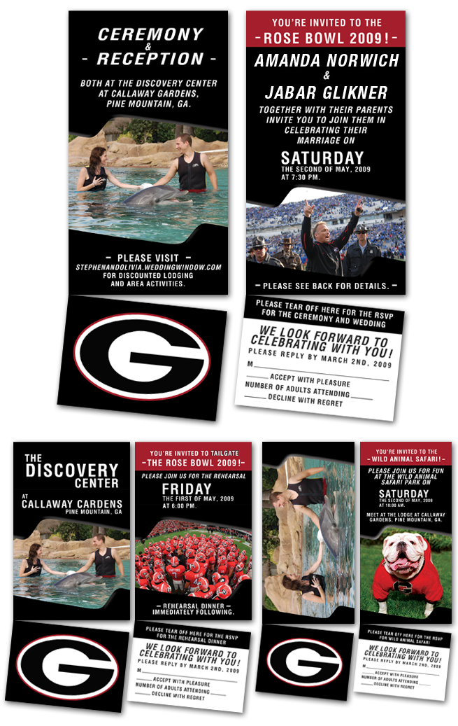 Football, Sports, Theme, themed, sport, wedding, invitation, design, gators, florida