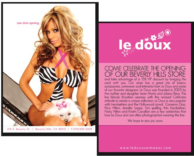 Le Doux, Swim Wear, Swimwear, Beverly Hills, California