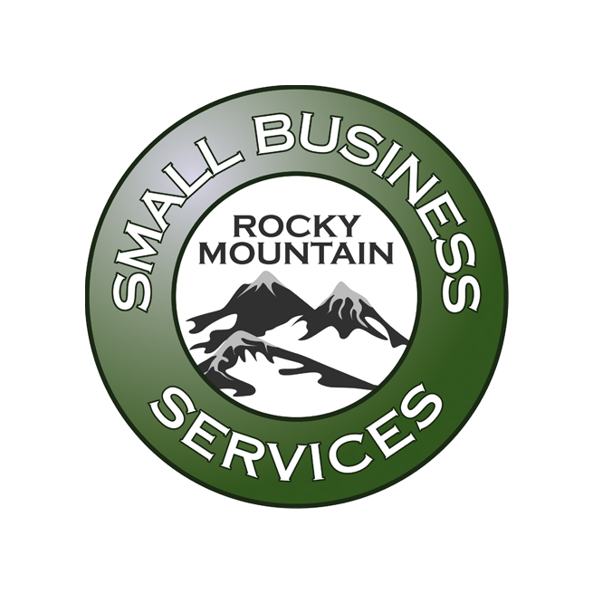 Rocky Mountain Small Business Services, round, green