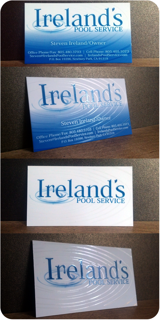 Ireland's Pool Service, Newbury Park, CA – Business Card Design and Printing