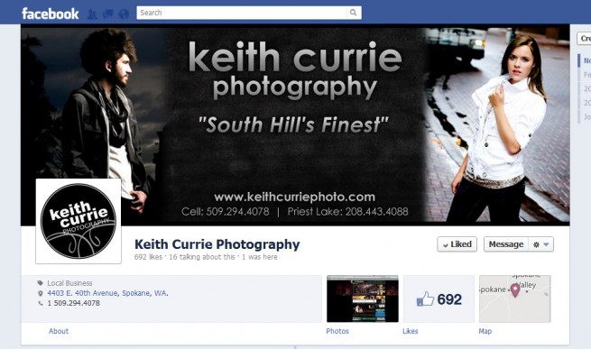 Facebook Timeline Cover Design – Keith Currie Photography, Spokane ...