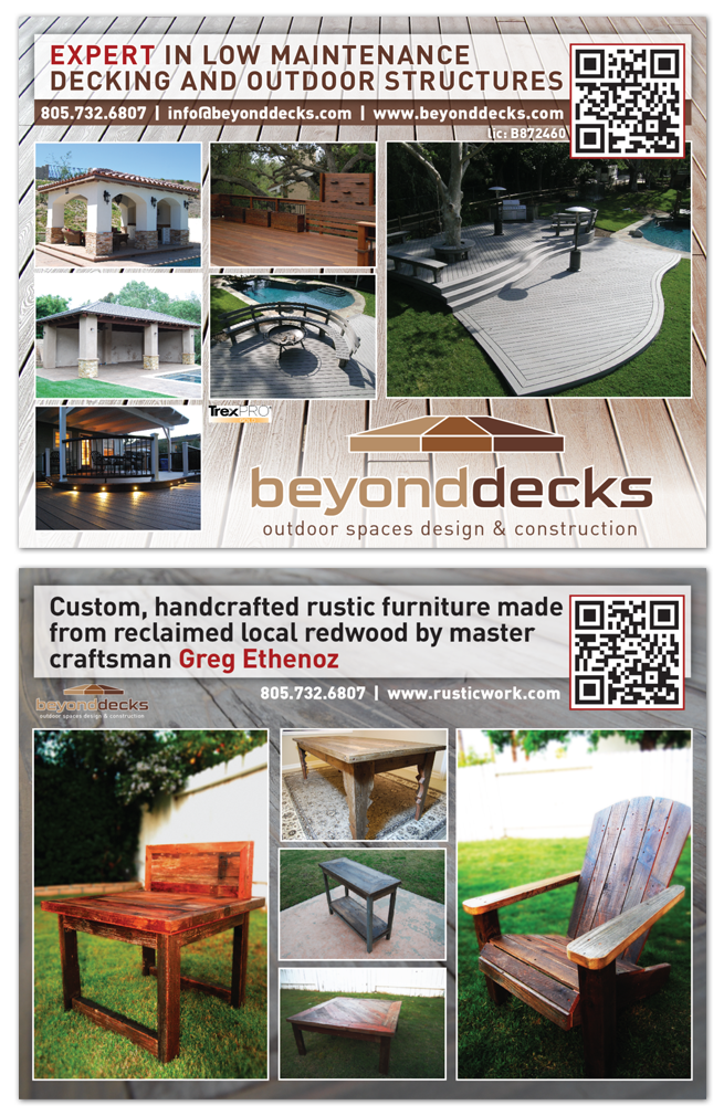 Beyond Decks, Ventura County – Postcard Design
