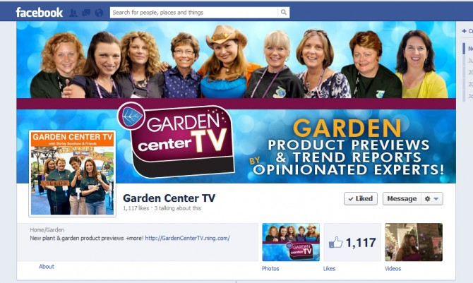 Garden Center TV – Facebook Cover Design