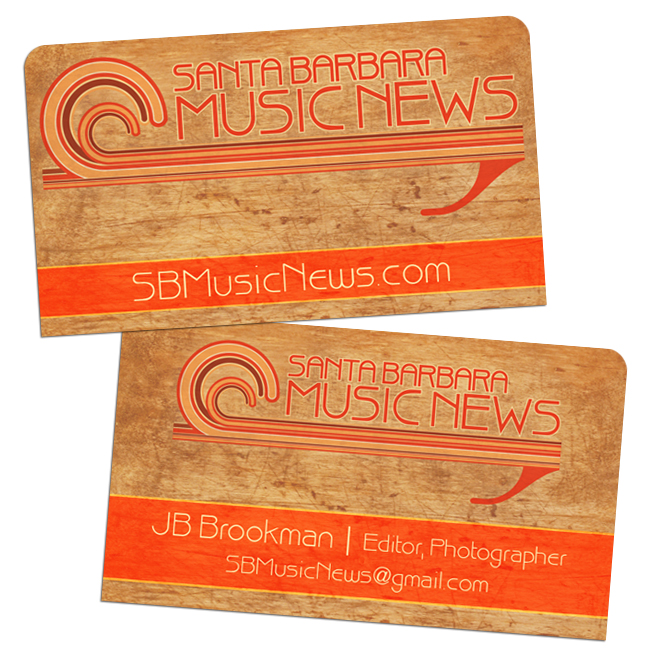 Santa Barbara Music News (Concerts, Music, Entertainment) – Business Card Design and Printing