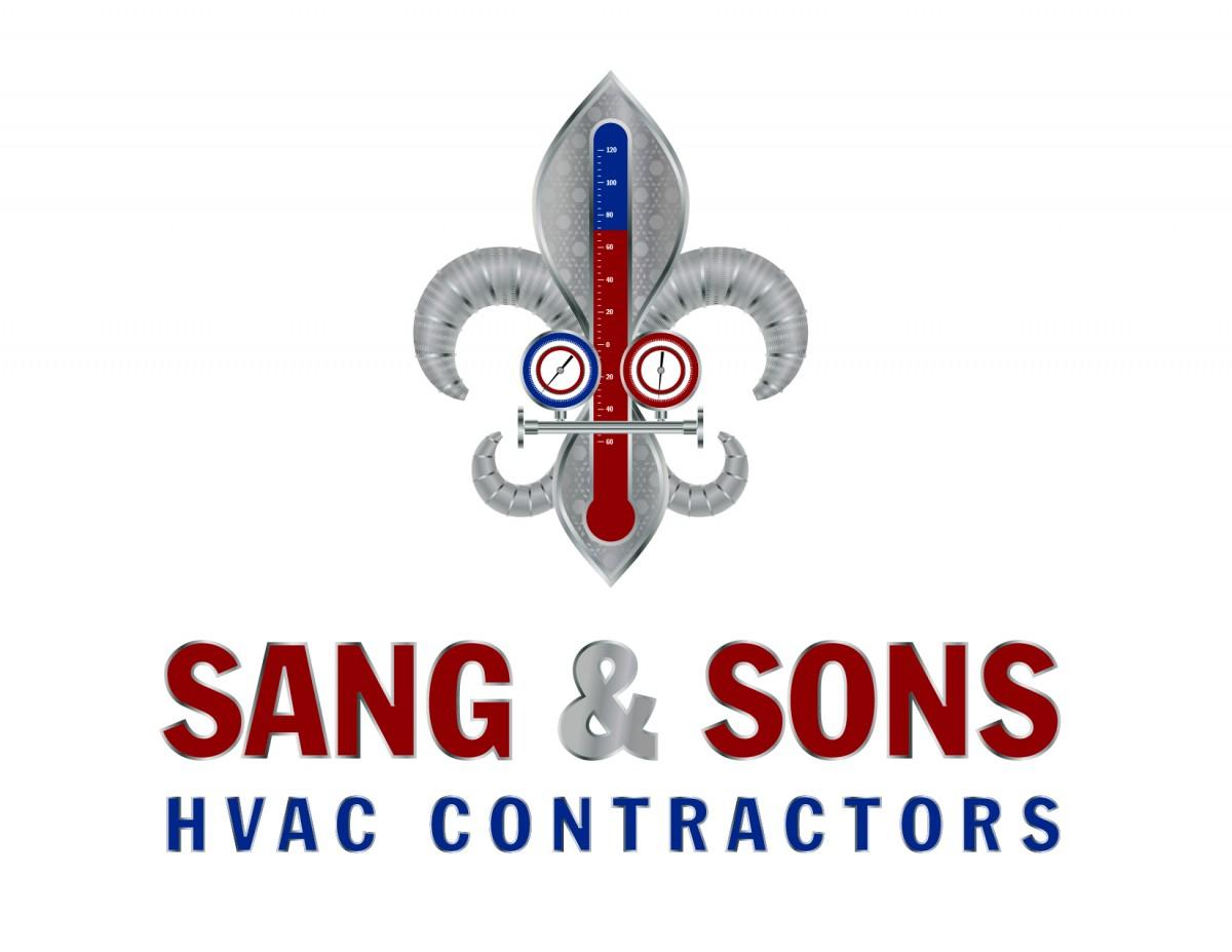 Logo Design for Sang & Sons HVAC Contractors by Jen Brookman Graphic Design