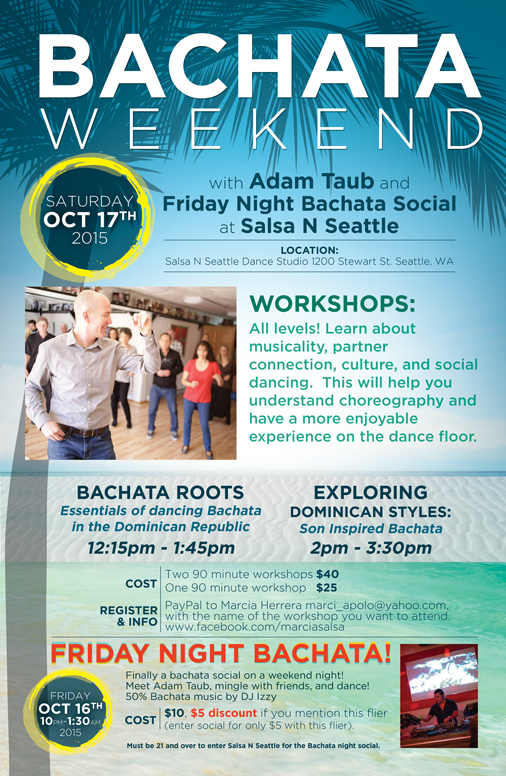 Bachata Weekend Seattle- Poster Design