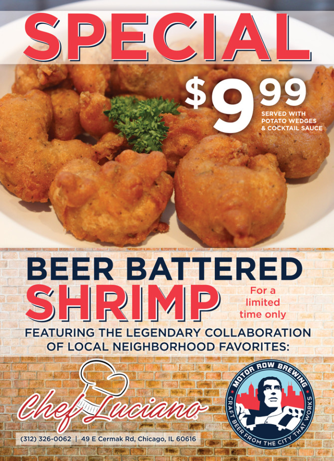 Chef Luciano Beer Battered Shrimp