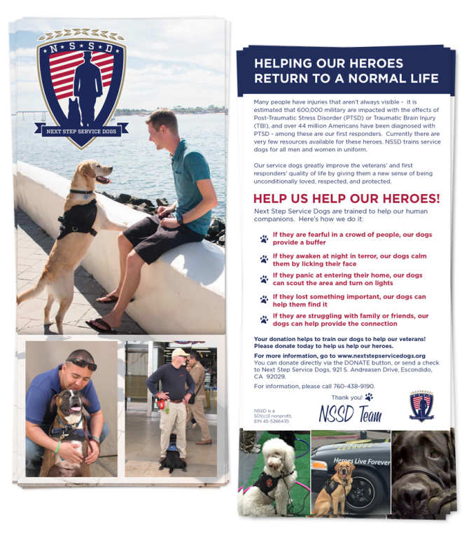 Next Step Service Dogs – Postcard Design