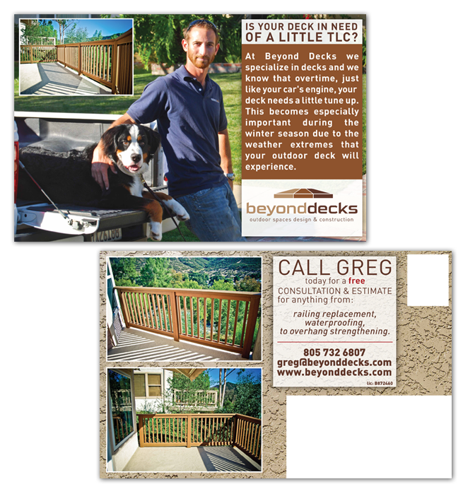 Greg Ethenoz- Beyond Decks – Postcard Design- Ventura County, CA