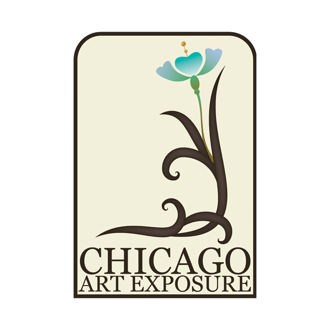 Chicago Art Exposure, art nouveau logo design