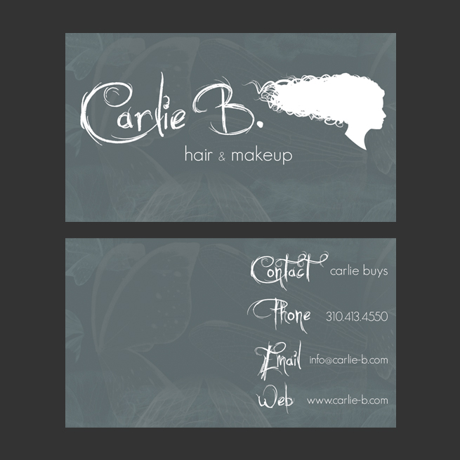 Carlie B Hair & Makeup, Los Angeles – Business Cards