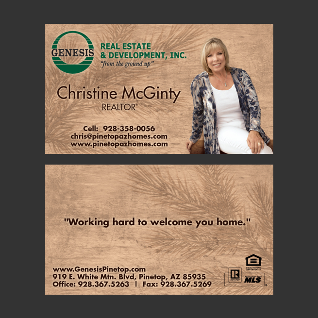 Christine McGinty Arizona Realtor – Business Card Design
