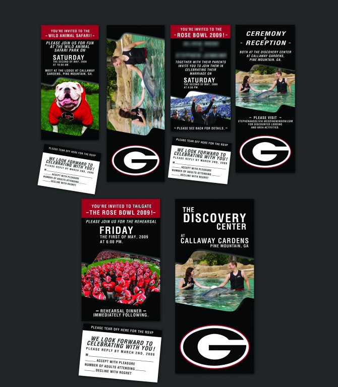 Wedding Invitation Design: Georgia Bulldogs Football Tickets (Best Wedding Invites Ever!)