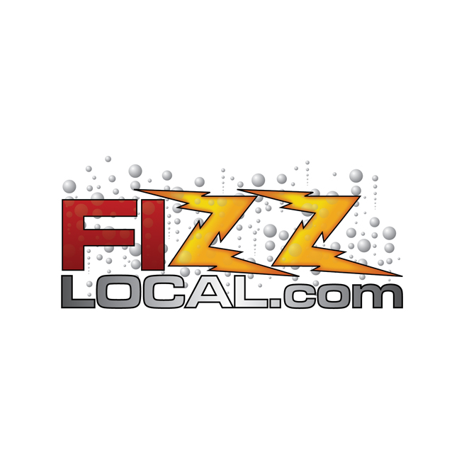 Fizz Local logo design, bubbles