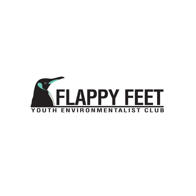 Flappy feet logo design, penguin