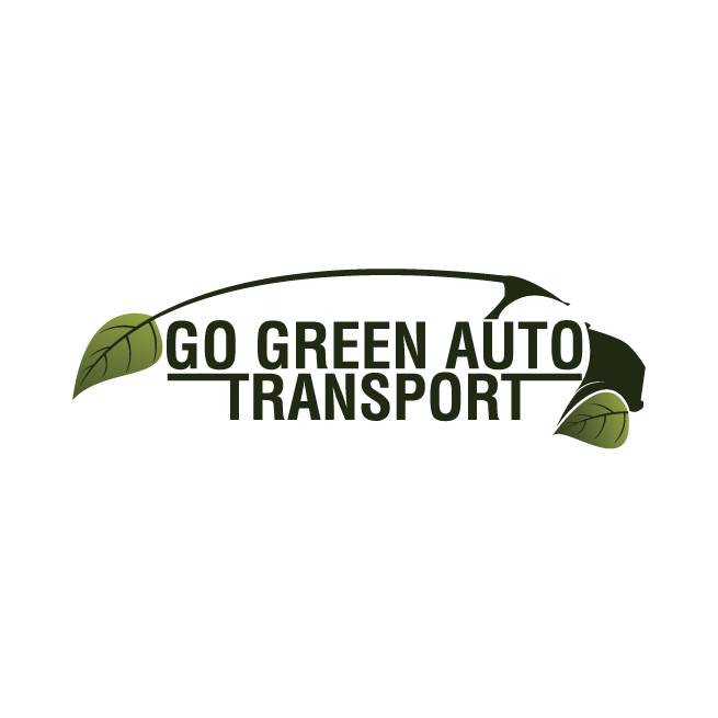 Go green auto transport logo design, leaf, leaves, green