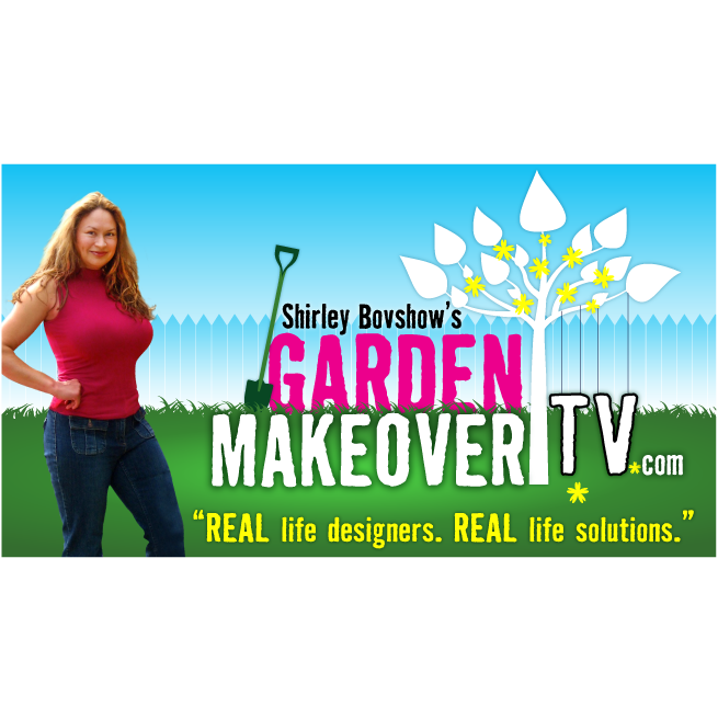 Garden Makeover TV, Shirley Bovshow, logo design