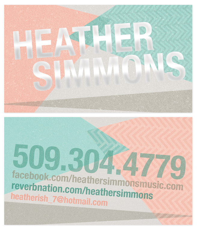 Heather Simmons Musician- Seattle- Business Cards