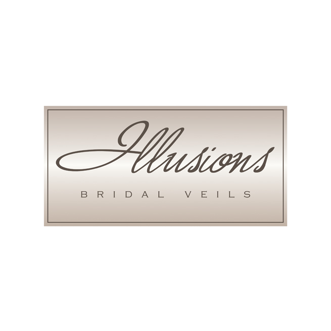 Illusions Bridal Veils logo design, wedding