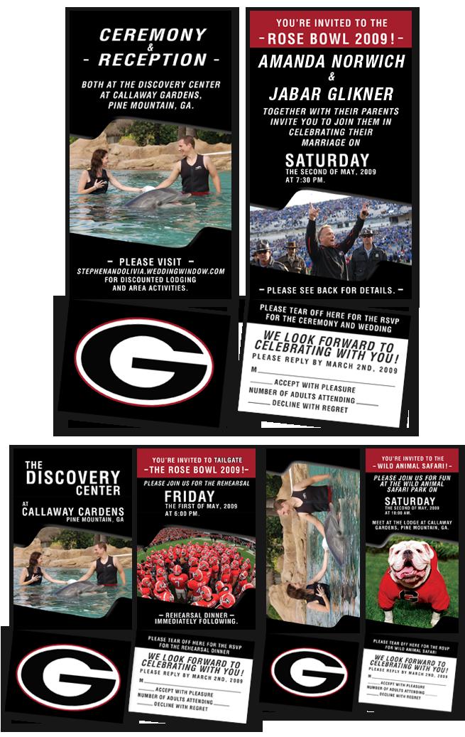 Football, Sports, Theme, themed, sport, wedding, invitation, design, gators, florida