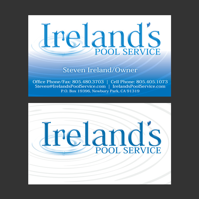 Pool Cleaning Business Cards