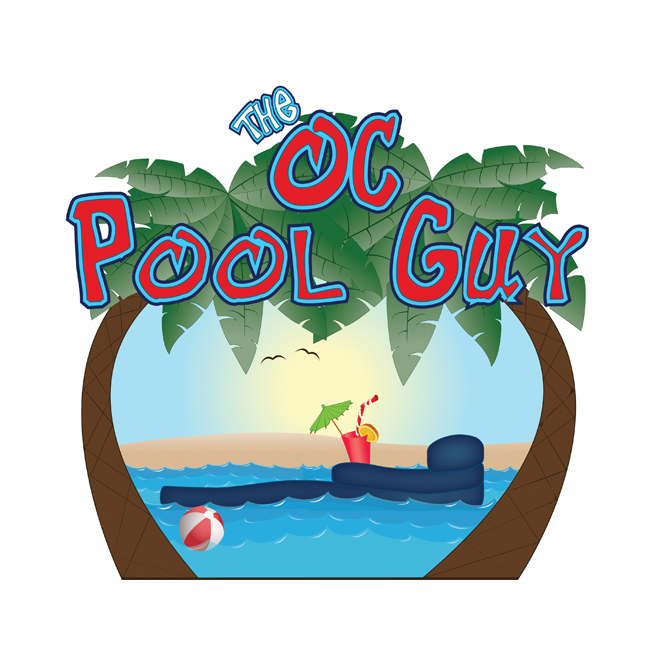 The OC Pool Guy, Logo Design, Illustration, Summer