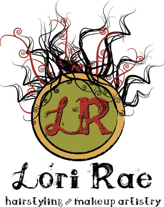 Logo Design: Lori Rae Hairstyling & Makeup Artistry