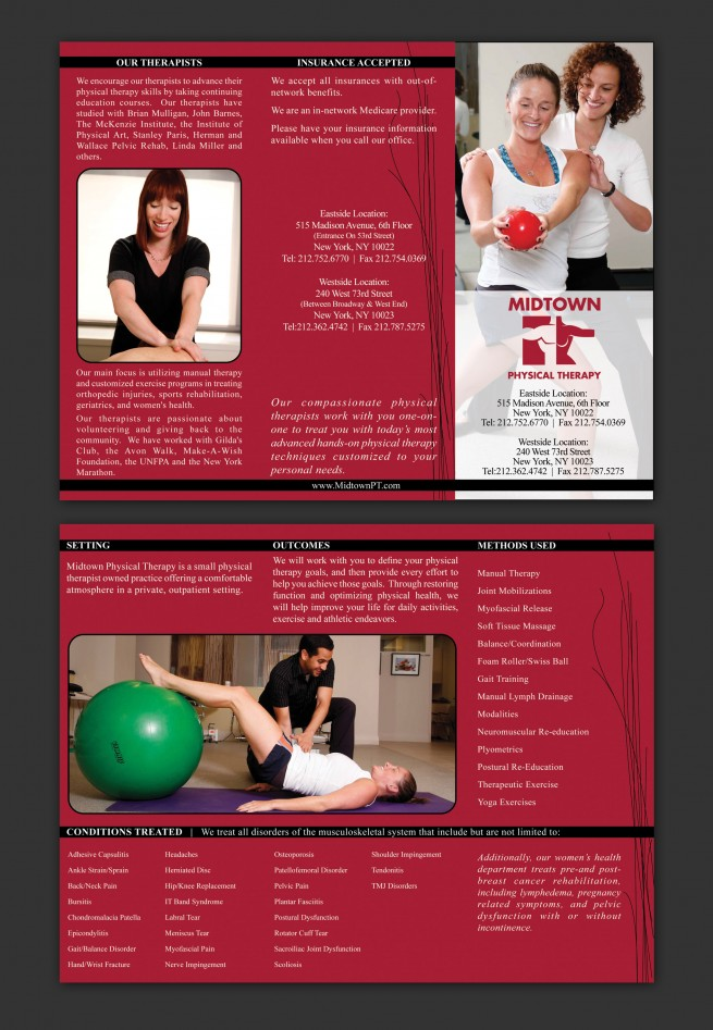 midtown physical therapy  u2013 brochure  u2013 nashville graphic