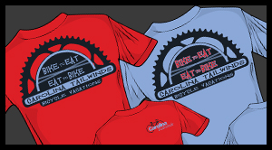 T-Shirt Design- Carolina Tailwinds Bicycle Vacations