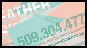 Heather Simmons, Seattle Musician/Songwriter – Business Card Design