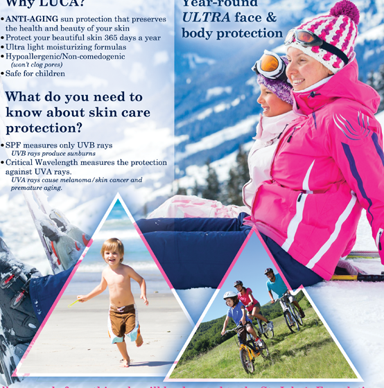 Flier Design – LUCA Sunscreen Winter Sun Protection Campaign