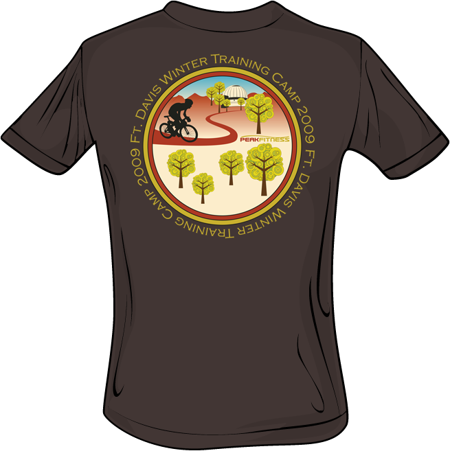 Bicycle t-shirt design, fitness