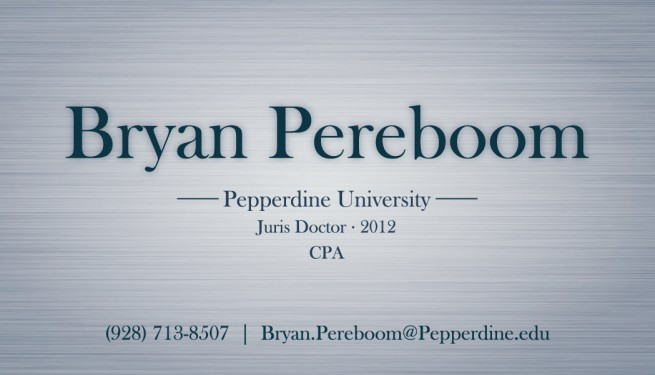 Pepperdine university law student business card design nashville published october 21 2011 categories business card design colourmoves