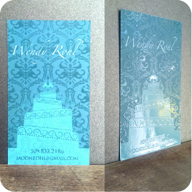 Wendy Rohl- Cake Creator & Photographer- Business Card Design- Yakima, Washington