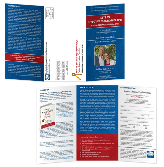 Tri-Fold Brochure for Family Therapy