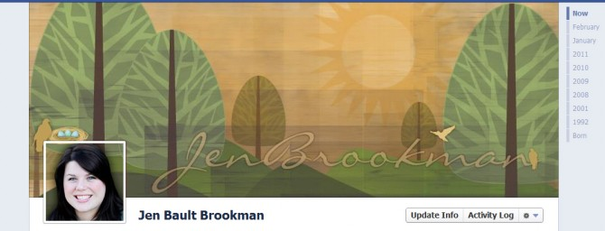 Breaking News:  Jen Brookman Graphic Design Announces The New Facebook Timeline 7-Day Design Sale!