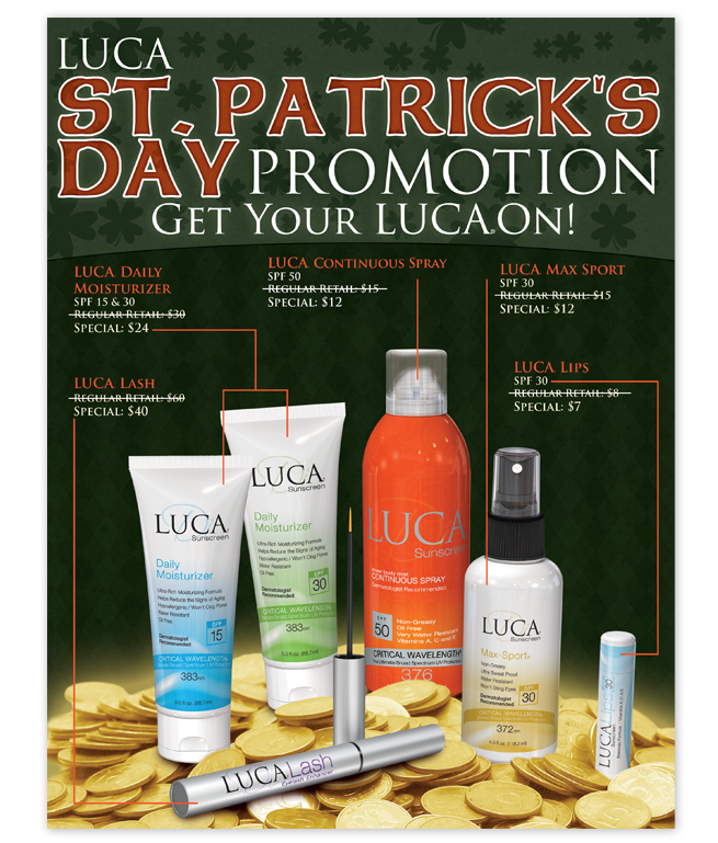 St. Patrick's Day Promotional Flyer Design – Luca Products