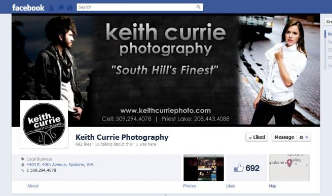 Facebook Timeline Cover Design, Photographer, Photography, Keith Currie, Spokane, Washington