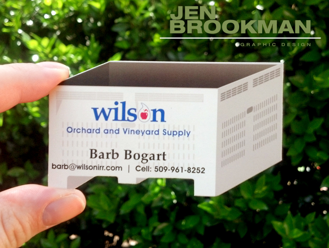 Business Card die cut, custom 3D Design