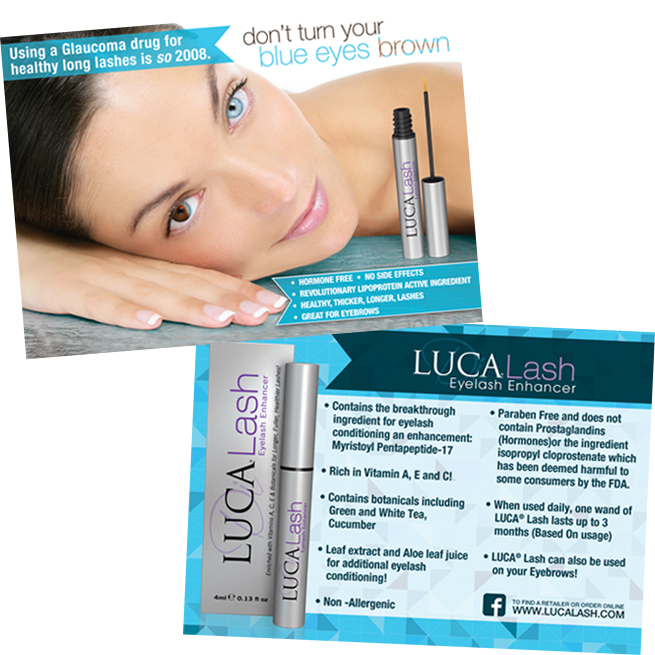 LUCA Lash Eyelash Conditioner & Enhancer – Postcard Design