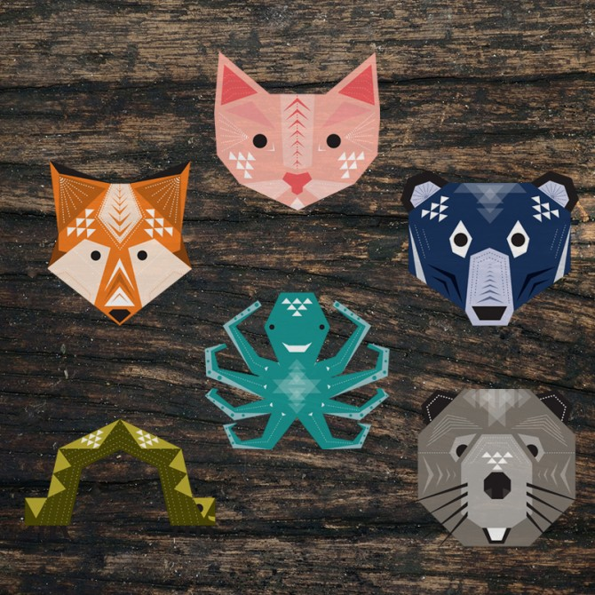 Geometric Animals – Vector Illustration Design