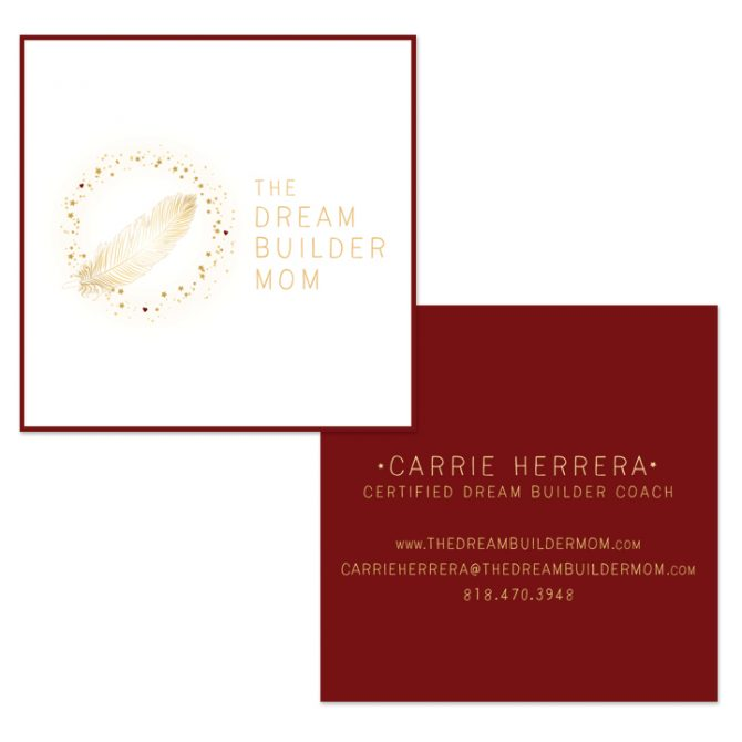 The Dream Builder Mom – Logo + Business Card Design